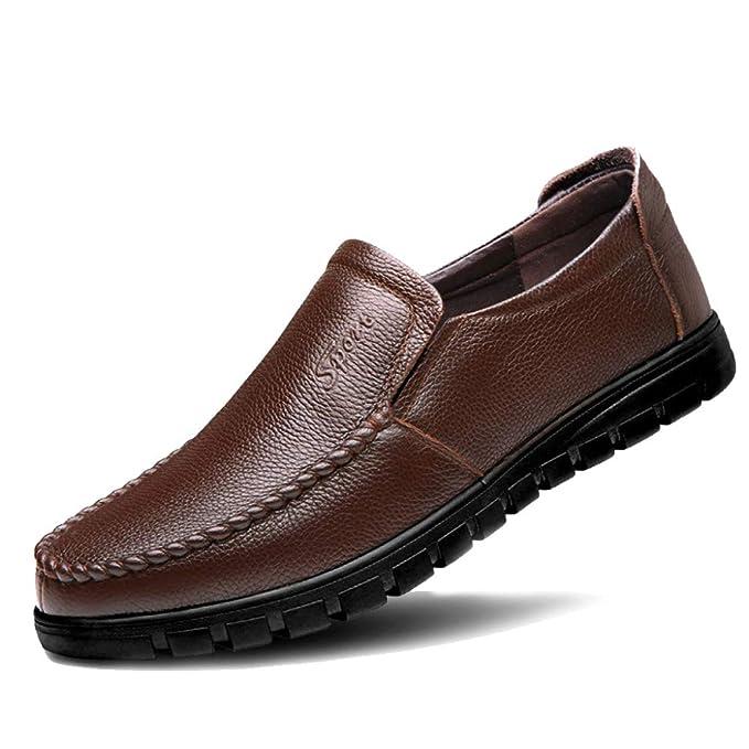 DAN Mocasines Para Hombres Mocasines Casuales Ligeros Suela Blanda Calzado De Conducción Pisos De Cuero Zapatillas De Barco Zapatillas De Negocios Zapatos ...