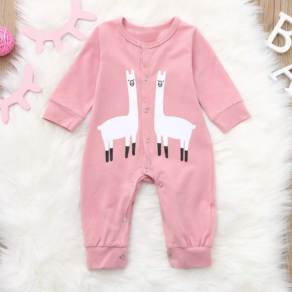 c9b9369c8 Amazon.com  Baby Winter Romper Cartoon Pajamas Jumpsuit Outfits for ...