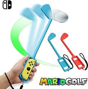 Controlador De AcessóRios De Jogos De Golfe Para Nintendo Switch Joy-Con, CompatíVel Com Mario Golf Super Rush, Conjunto De 2 PeçAs De Golfe