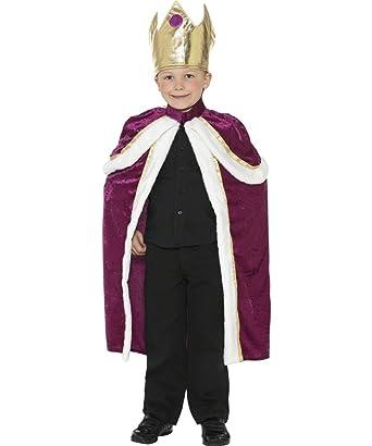 Kiddy King Corona y Capa Festive de Navidad Childs Disfraz 4 - 6 ...