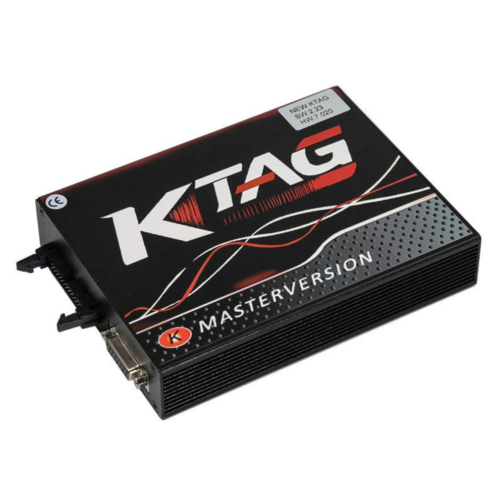 KTAG V7.020 V2.23 ECU Outil de programmation Unlimited Token KTAG firmware V7.020 Logiciel V2.23 ECU Outil de programmation compatible universel pour voiture tracteur camion noir v/élo