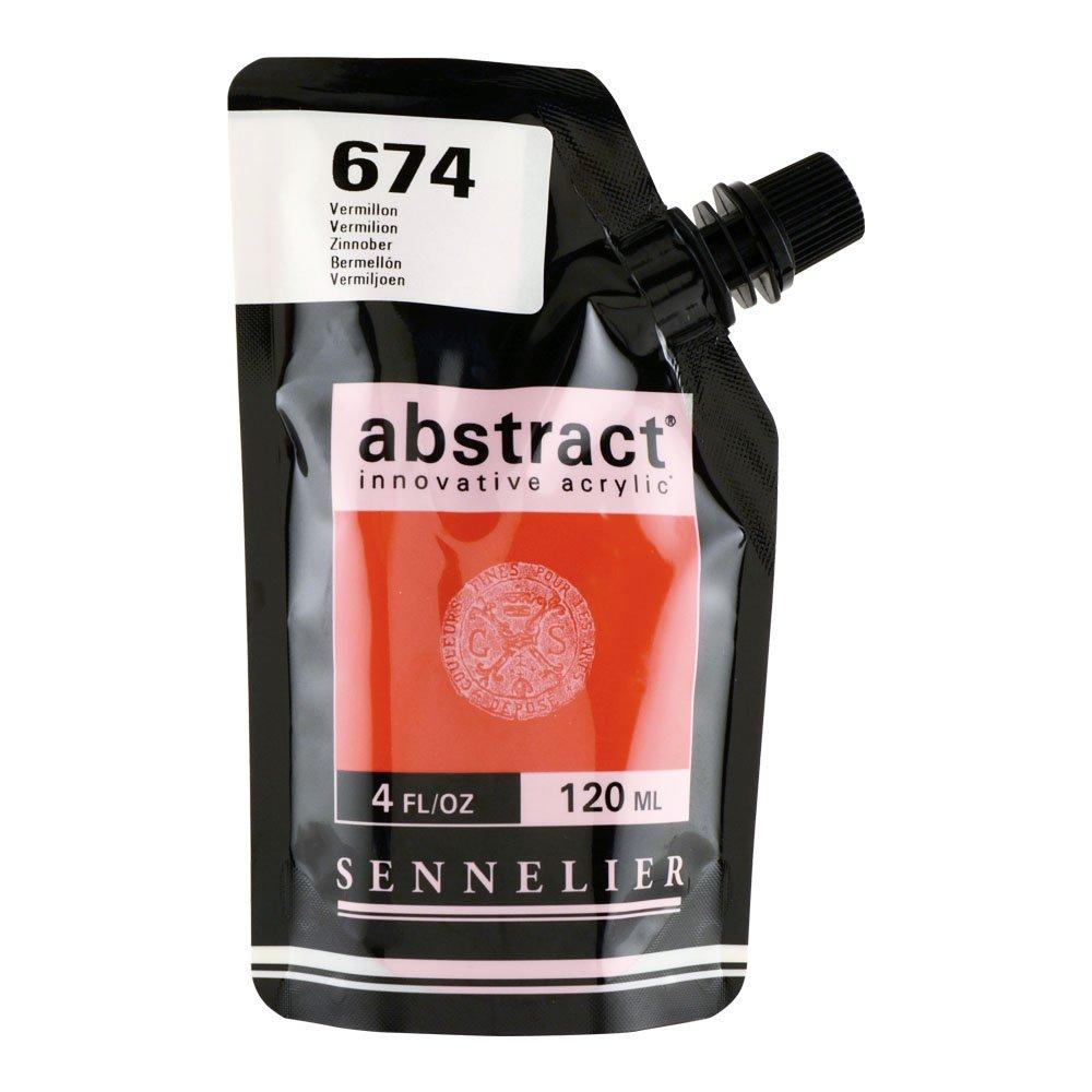 Abstract Acrylic 120ml Vermilion SAVOIR-FAIRE