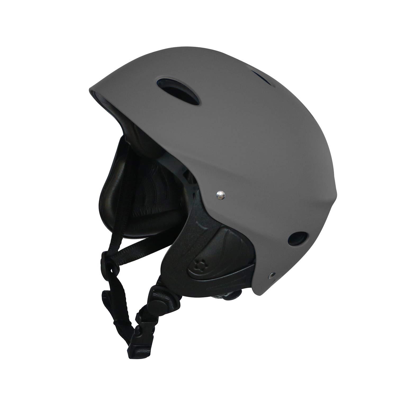 Vihir Adult Water Sports Skate Bike Helmet with Ears Adjustable Multi Skating Skateboard Scooter Surf Men Women Dial Helmet (Dark Gray, M/L 21.6-23.7 inches(54cm-60cm)) by Vihir