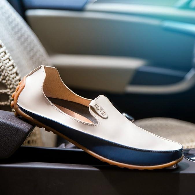 f16e161fbce3d8 Chaussure de Ville sans Lacet en Cuir Souple pour Homme Chaussure de Conduite  Casual Résistant à l'usure: Amazon.fr: Chaussures et Sacs