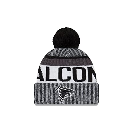New Era NFL Atlanta Falcons Adult Men Cold Weather Black   White Sport Knit  Beanie fab10b4c4