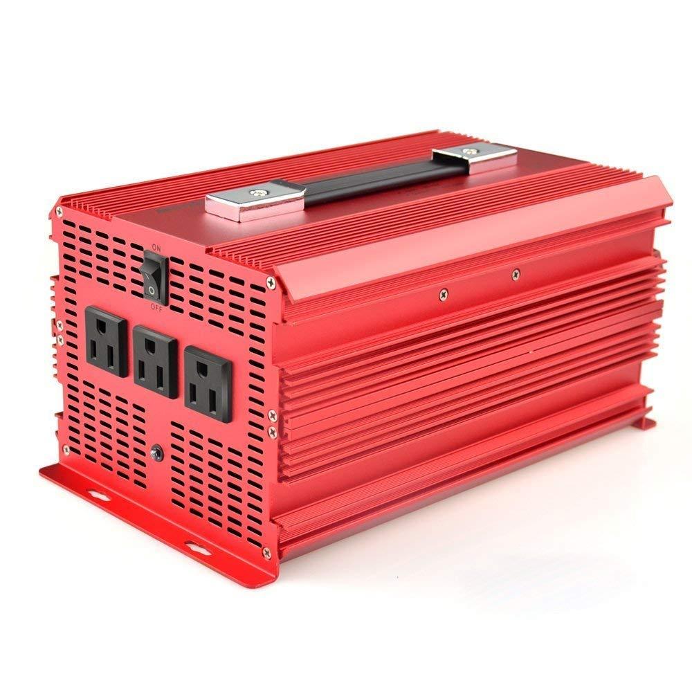 Bestek 2000w Power Inverter 3 Ac Outlets Dc 12v To 110v Marine Battery Isolator Wiring Diagram Car Outdoor Emergency Supply Etl Listed Electronics