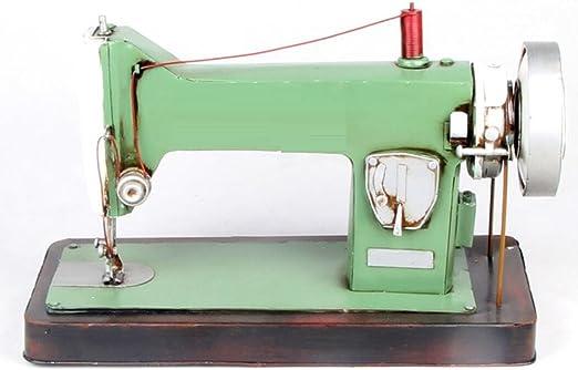 LD&P Retro a la antigua moda máquina de coser plana coche modelo decoraciones artesanía fotografía accesorios recolección casa artesanía,green,35*16*21CM: Amazon.es: Hogar