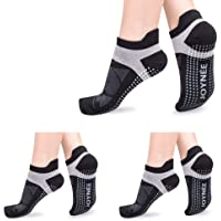 JOYNÉE Non-Slip Yoga Socks for Women with Grips,Ideal for Pilates,Barre,Dance,Hospital,Fitness 3 Pairs