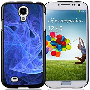 Beautiful Custom Designed Cover Case For Samsung Galaxy S4 I9500 i337 M919 i545 r970 l720 With Blue Abstract Smoke Phone Case Cover