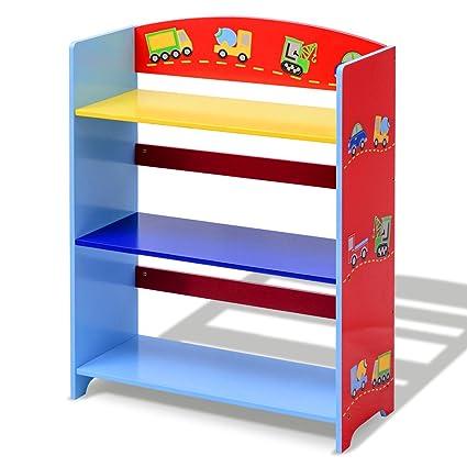 C Y Kids Bookcase 3 Tier Bookshelf Book Organizer Toys Storage Ideal Children Gift
