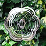 Flower Shaped Steel Windspinner For The Garden