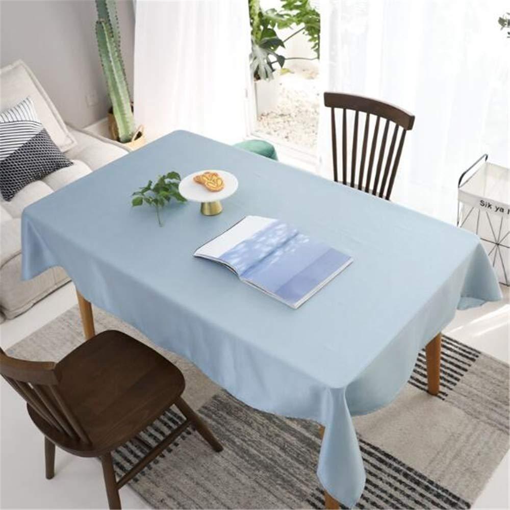 LYJZH Literario pequeño Fresco Liso paño de Tabla hogar paño Mantel Tela Azul Claro Tela Mesa de café paño 90 * 140 cm