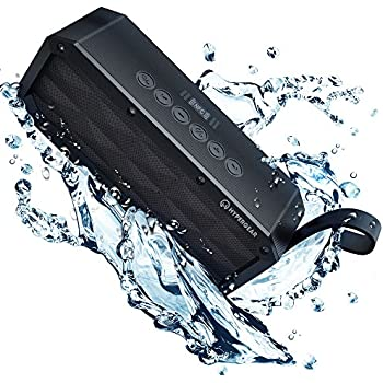 HyperGear Beast XL Rugged Portable IPX6 Waterproof Water Resistant Dustproof Outdoor Indoor Wireless Bluetooth Speakers with Built-In Microphone, Best Loud 30W Bass Stereo Sound for iPhone, Computer