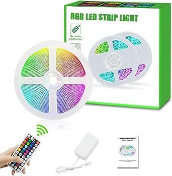Led Strip Lights, Super Bright RGB 9.8ft/3Meter 24V Color Changing Led Strip Lights with 44 Keys RF Remote Controller for Bedroom Room TV Party Festival Wedding