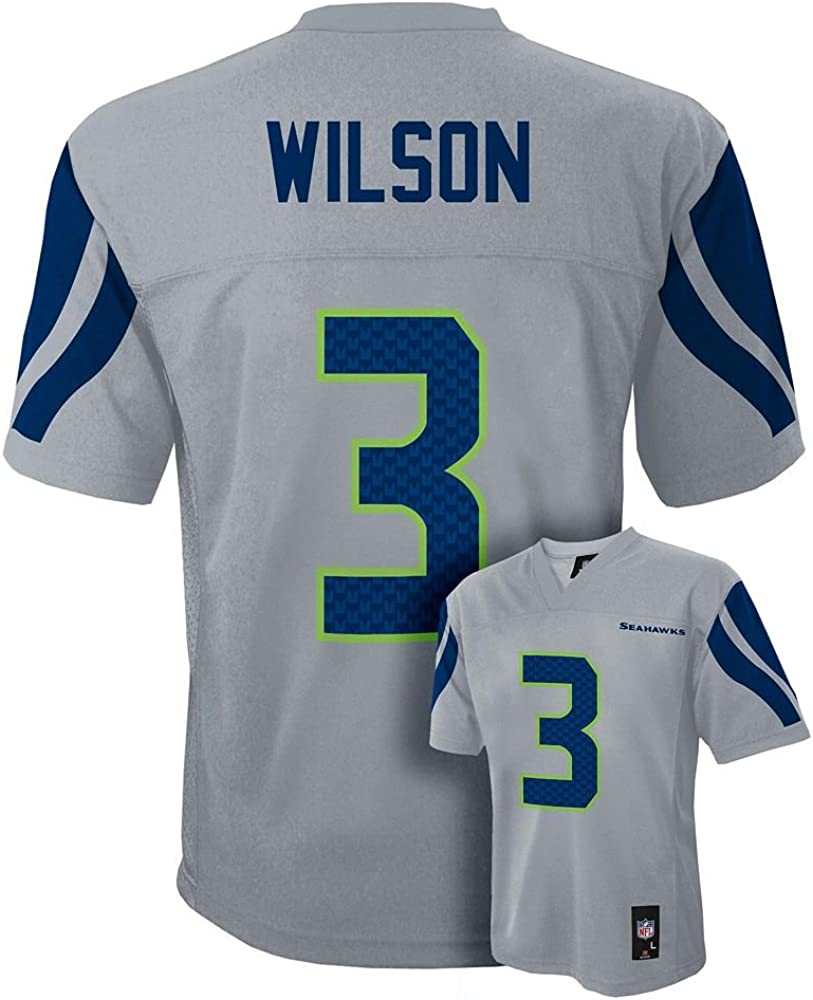 Outerstuff Russell Wilson Seattle Seahawks #3 Navy Blue Youth Home Player Jersey