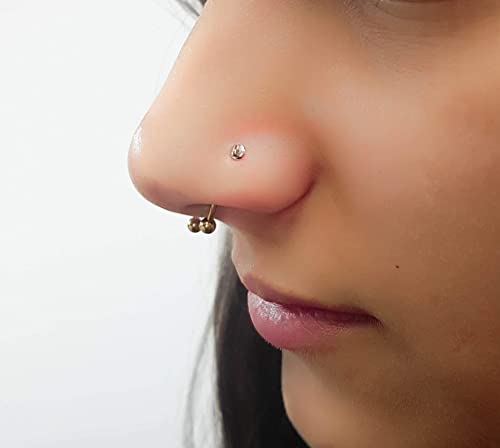 Nose Stud Piercing 18g Tiny Silver L Shape 2mm 3mm 4mm 18 Gauge Flat Amazon Co Uk Handmade