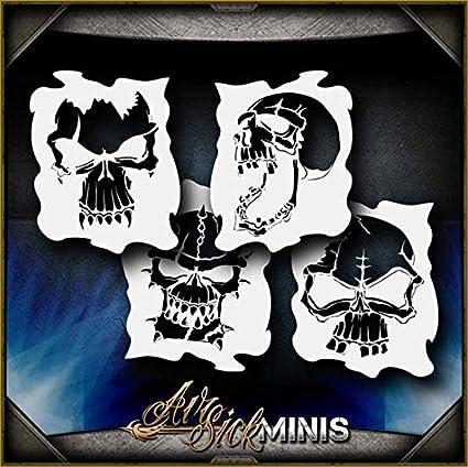 "/""Skull 25/"" Airbrush Stencil Template Airsick"