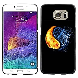 Planetar® ( Yin Yang Elements ) Samsung Galaxy S6 / SM-G920 / SM-G920A / SM-G920T / SM-G920F / SM-G920I Fundas Cover Cubre Hard Case Cover