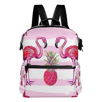 TIZORAX - Mochila Escolar de Verano, diseño de flamencos Tropicales, Color Rosa: Amazon.es: Deportes y aire libre