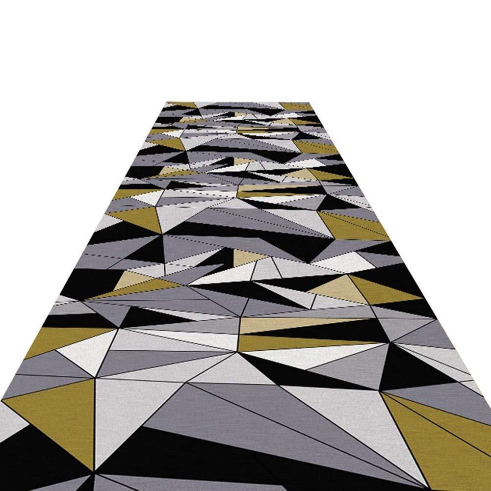 GuoWei-じゅうたん 廊下敷きカーペッ ために 回廊 通路 現代の 機械 印刷済み 格子 パターン 複数のサイズ カスタマイズ可能 (色 : A, サイズ さいず : 1.2x8m) 1.2x8m A B07NS8THTH