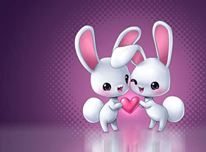 Amazon Love White Rabbit Rabbits 1 4 Sheet Edible Photo