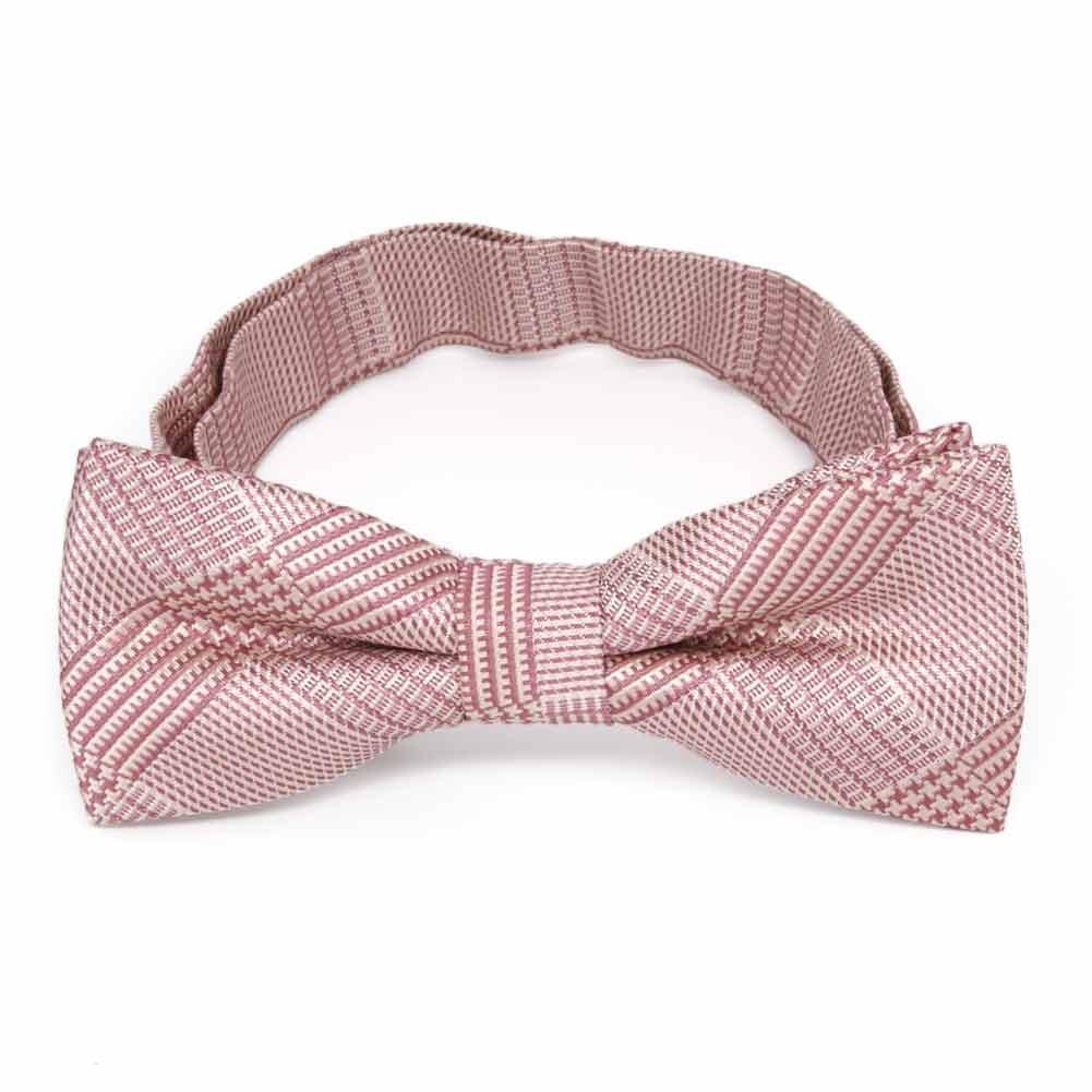 TieMart Boys Cameo Pink Michael Glen Plaid Bow Tie