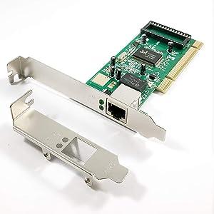 X-MEDIA 1-Port PCI 10/100/1000Mbps Gigabit Ethernet PCI Network Card / Network Adapter, Realtek RTL8169SC Chipset, Windows 10 & Linux Supported [XM-NA3500]