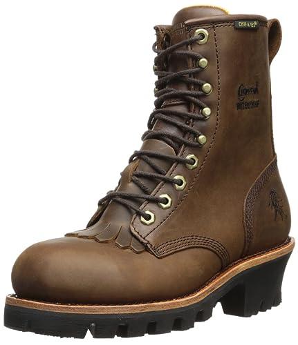 Chippewa Women s 8 quot  Waterproof Insulated Steel Toe L26341 Logger Boot  ... 88ff870d0a