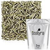 Tealyra - Premium White Silver Needle Tea - Bai Hao Yinzhen - Organically Grown in Fujian China - Superior Chinese Silver Tip White Tea - Loose Leaf Tea - Caffeine Level Low - 55g (2-ounce)