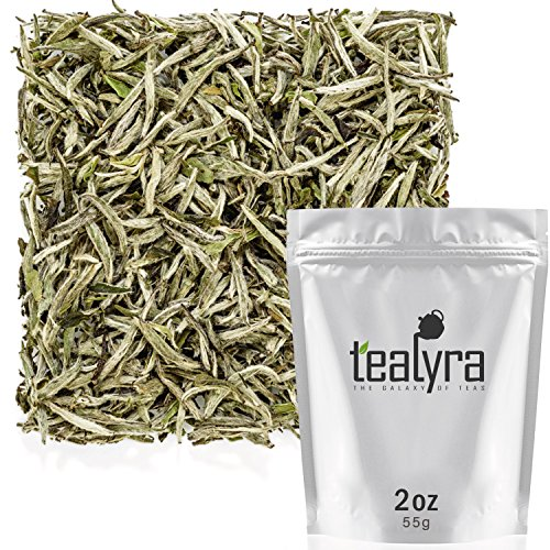 Tealyra - Premium White Silver Needle Tea - Bai Hao Yinzhen - Organically Grown in Fujian China - Superior Chinese Silver Tip White Tea - Loose Leaf Tea - Caffeine Level Low - 55g (2-ounce)