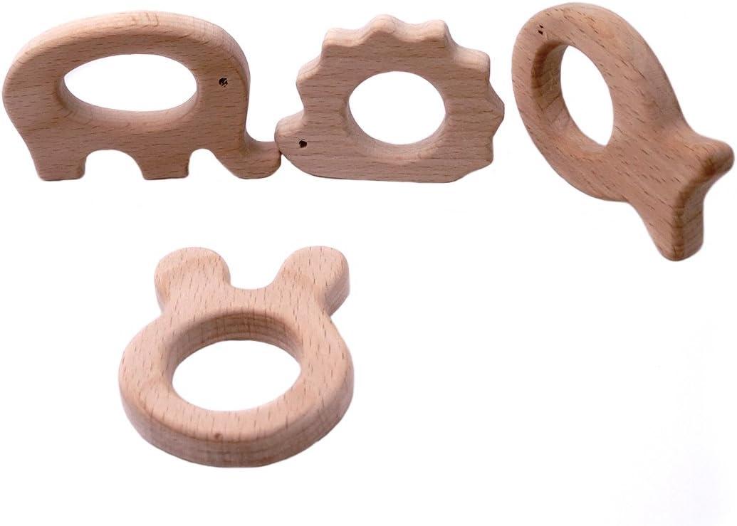 Coskiss La dentición de juguete de madera elefante Rabbitfish ...