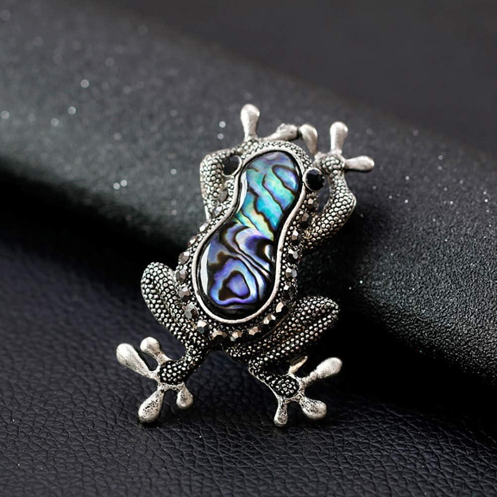 Ogquaton Broches Vintage Color/é Coquille Grenouille Faux Gem Incrust/é Broche Pin Badge V/êtements D/écor Cadeaux Pratique Et Pratique