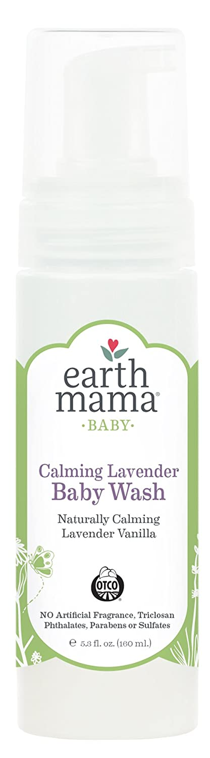 Earth Mama Calming Lavender Baby Wash Gentle Castile Soap for Sensitive Skin, 5.3-Ounce Earth Mama Angel Baby EMA325