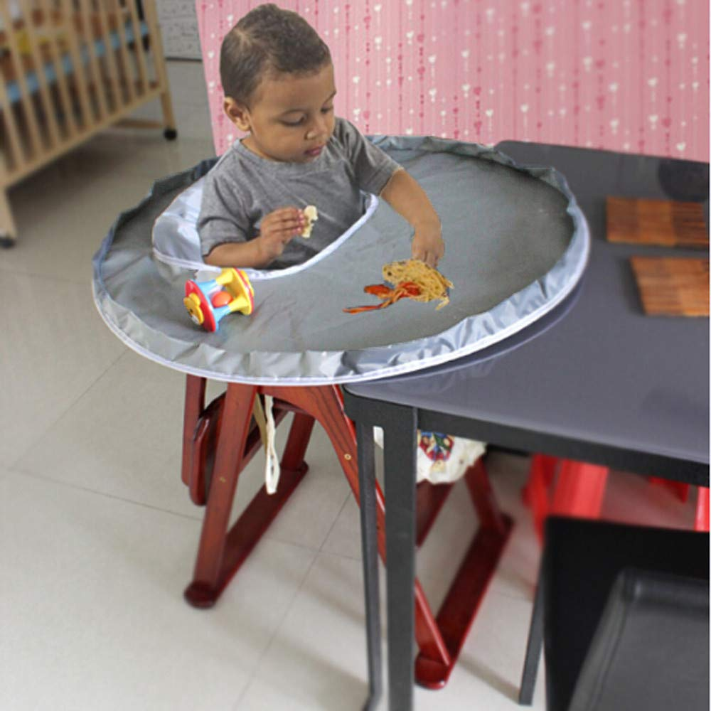 m·kvfa New Baby Dinner Mat Cover Waterproof Highchair Bumper Pad Place Mat to Protect Carpet or Floor
