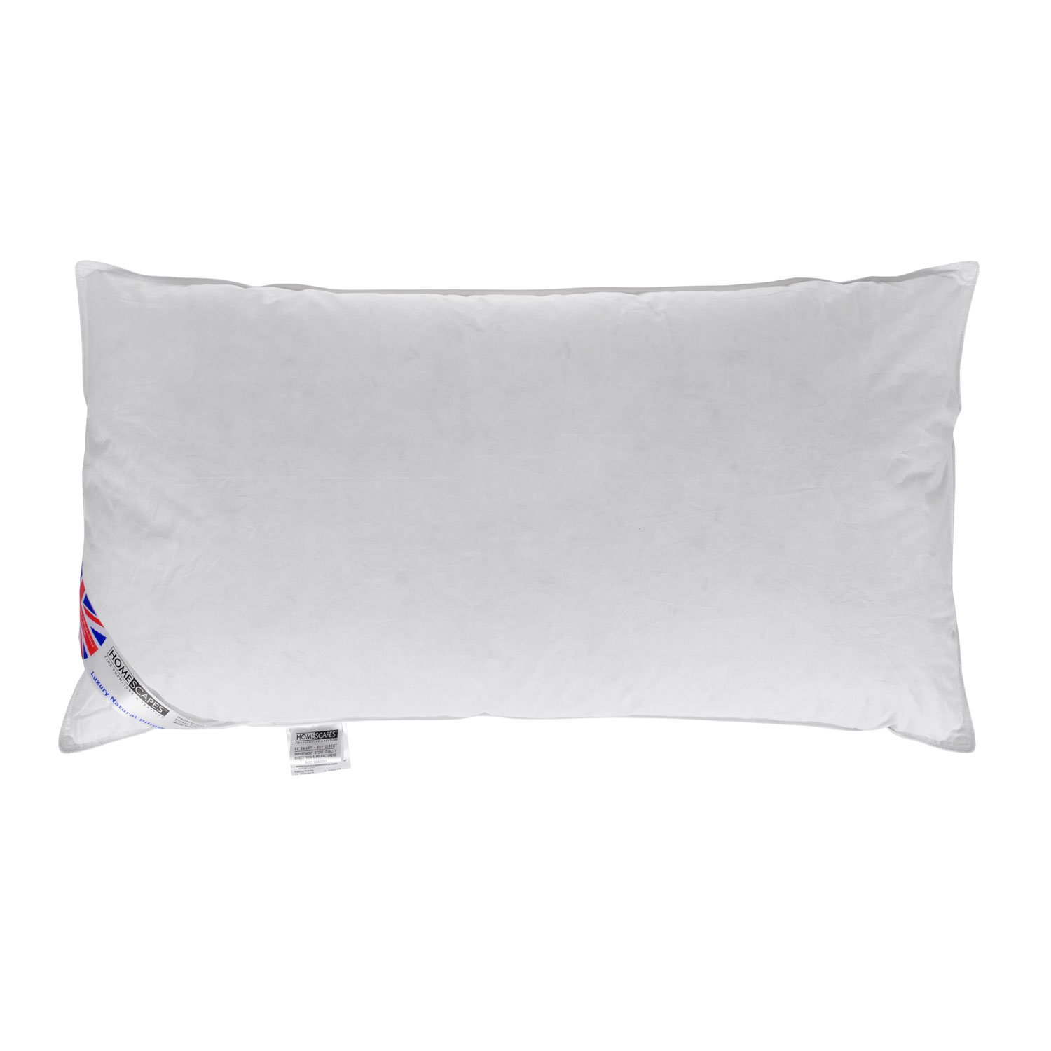 Homescapes Duck Feather Down King Size 3 ft Pillow Bolster 19 x 36 Luxury Hotel Quality with Soft/Medium Firmness