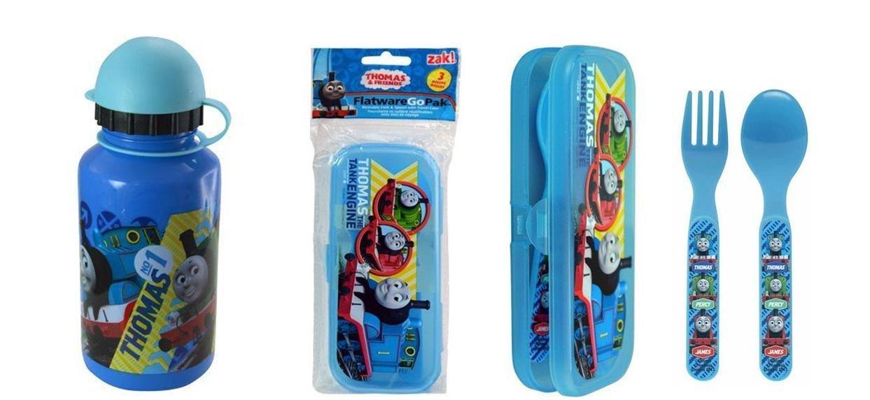 【送料無料/新品】 Thomas the Thomas Train 12 oz Water Go Bottle and Flatware Bottle Spoon and Fork Go Pack with Case Set by Thomas & Friends B01GY1Q2UU, BAS CLOTHING:ba41ec37 --- a0267596.xsph.ru