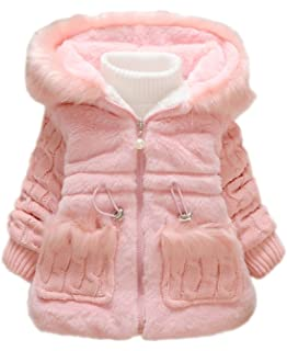 f79c100ad Toddler Kids Infant Baby Girl Knitted Sleeves Winter Warm Coat Jacket  Snowsuit
