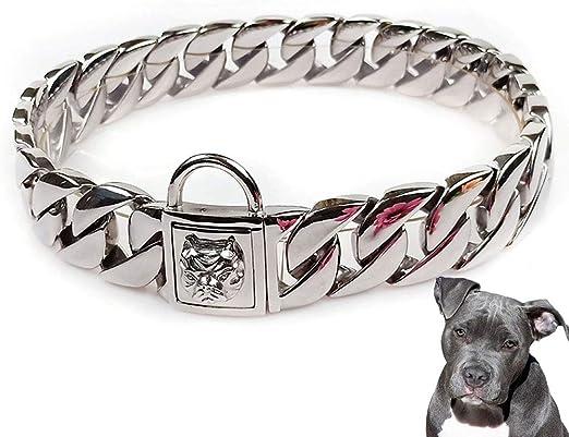 UTOPIAY Collar de Cadena para Perros de 32 mm, Cerradura de Cabeza ...