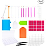 46 Pieces DIY Diamond Painting Tools Set Tool Accessories with Embroidery Box for Diamonds Earrings Beads Necklace Art Craft