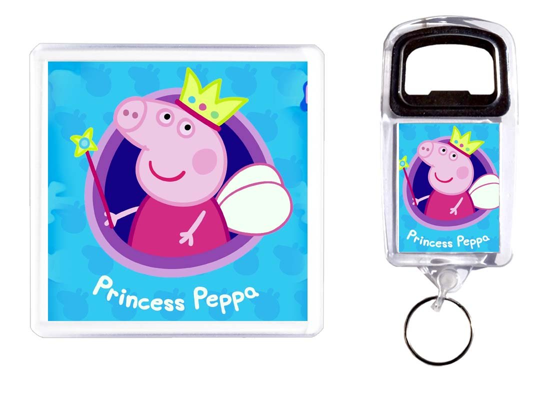 Abridor de botella y posavasos Peppa Pig: Amazon.es: Hogar