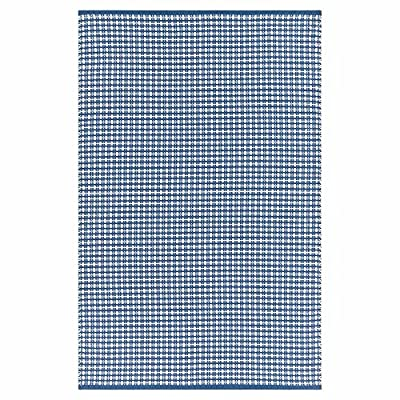 Grant Modern Classic Blue Plaid Hand Woven Outdoor Rug - 4'x6'
