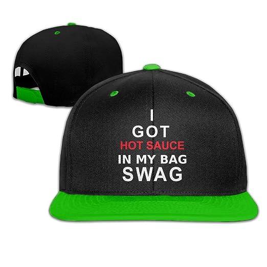 179368d0ff3 Lichang I Got Hot Sauce In My Bag SWAG Unisex Snapback Hip Hop Hat Baseball  Cap