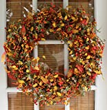 Appalachia Berry Silk Fall Door Wreath 22 inch