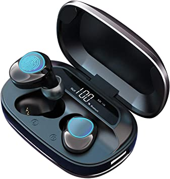 Wireless Earbuds Makthing 5 0 Bluetooth Headphones Ipx7 Whterproof Ture Stereo Earphones In Ear Headset Built In Mic And Portable Charging Case For Sport Running Amazon Ca Electronics
