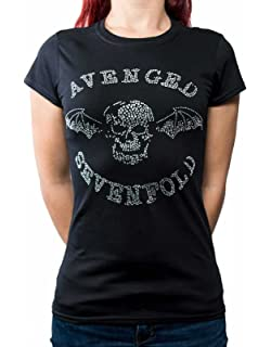 Avenged Sevenfold Weaved Girls Tissue Tee