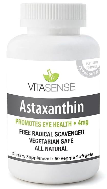 Vitasense Astaxantina 4 mg - Salud Ocular - 60 capsulas by RIVENBERT