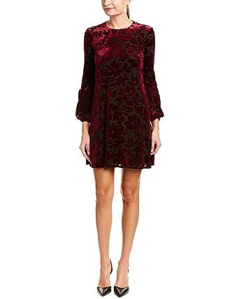 3cc38af01e Taylor Womens Floral Velvet Burnout Shift Dress at Amazon Women s Clothing  store