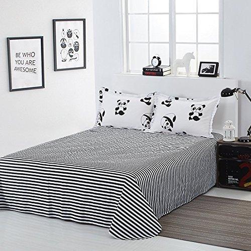 YOUSA Cute Panda Bedding 100% Cotton Bedding Set Black