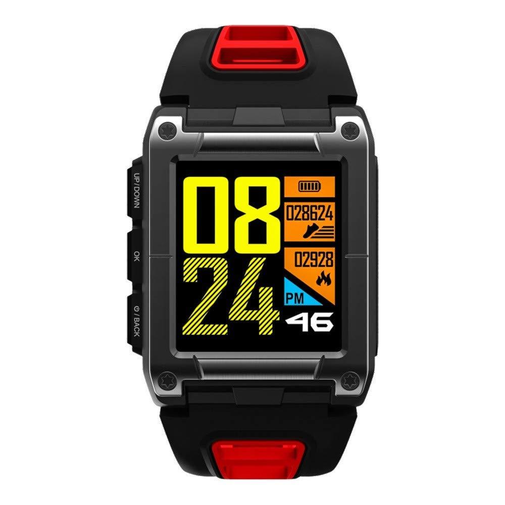 Lovewe Professional IP68 Waterproof Swimming Smart Watch Fitness Tracker Bluetooth GPS Wristband Colorful UI (Red)