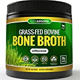 EzyAbsorb Bone Broth Protein Powder, 445g/15.7oz 20 Servings - Certified Paleo-Friendly - Natural Non-GMO Beef, Gluten Free Unflavored (Grass-Fed)